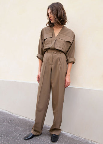 Brown Suit Trousers by Studio Cut pants Studio Cut