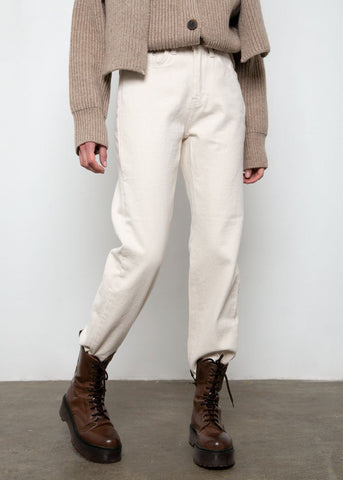 Brushed Cotton Pants in Ecru Pants mellor