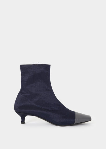 By Far Karl Navy Stretch Fabric Boots Shoes By Far