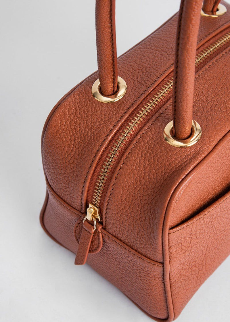 By Far Martin Bag in Cognac Grained Leather Bag By Far