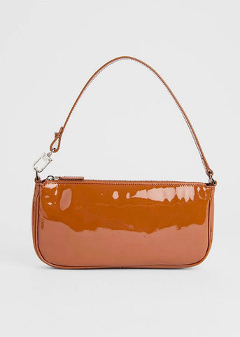 By Far Rachel Bag in Caramel Patent Leather Bag By Far