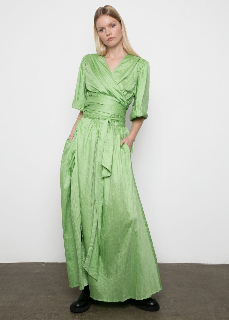 Cactus Journey Belted Maxi Skirt by Rodebjer skirt rodebjer