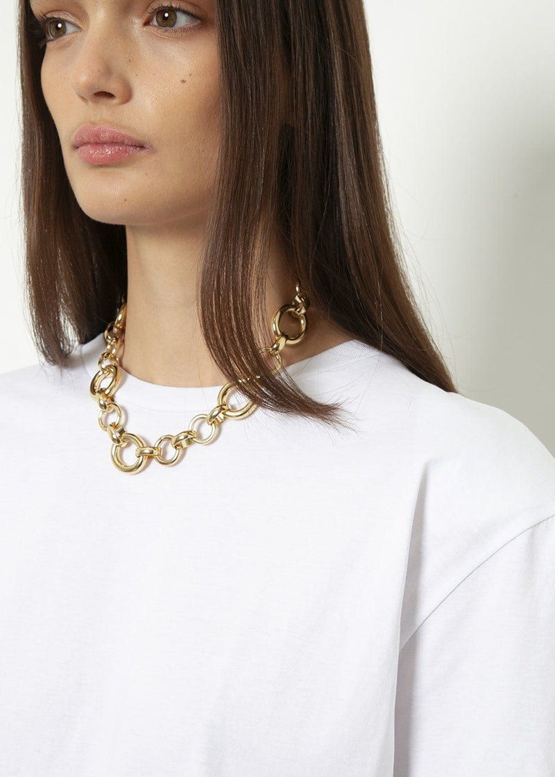 Calle Chain Necklace by Laura Lombardi in Gold Necklace Laura Lombardi