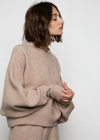 Camparo Sweater by Nanushka- Sand sweater Nanushka