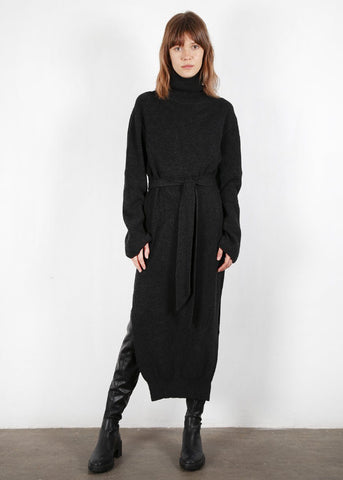 Canaan Turtleneck Dress in Charcoal by Nanushka Dress nanushka