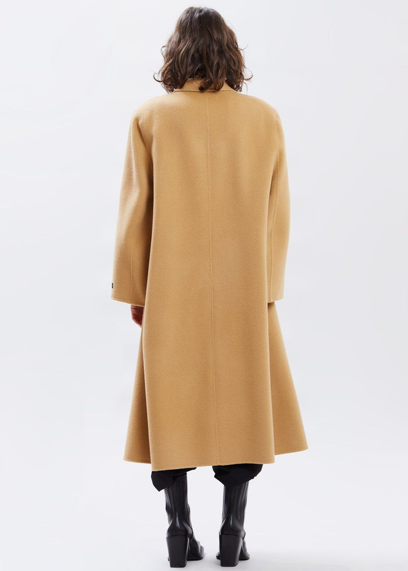 Cape Sleeve Double Breasted Coat in Hazelnut Coat Another.J