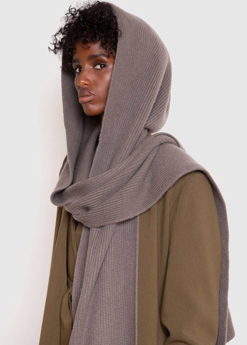 Capense Hooded Scarf by Loulou Studio in Taupe Scarf Loulou Studio