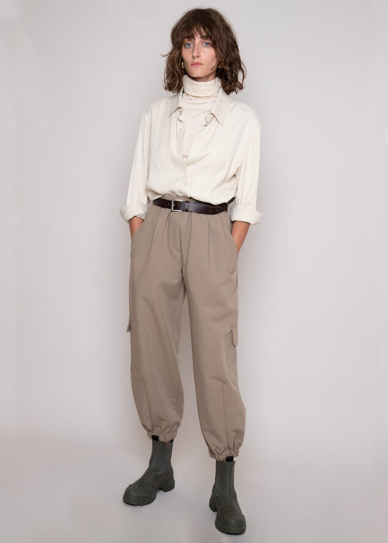 Cargo Jogger Pants in Slate Green Pants L'art
