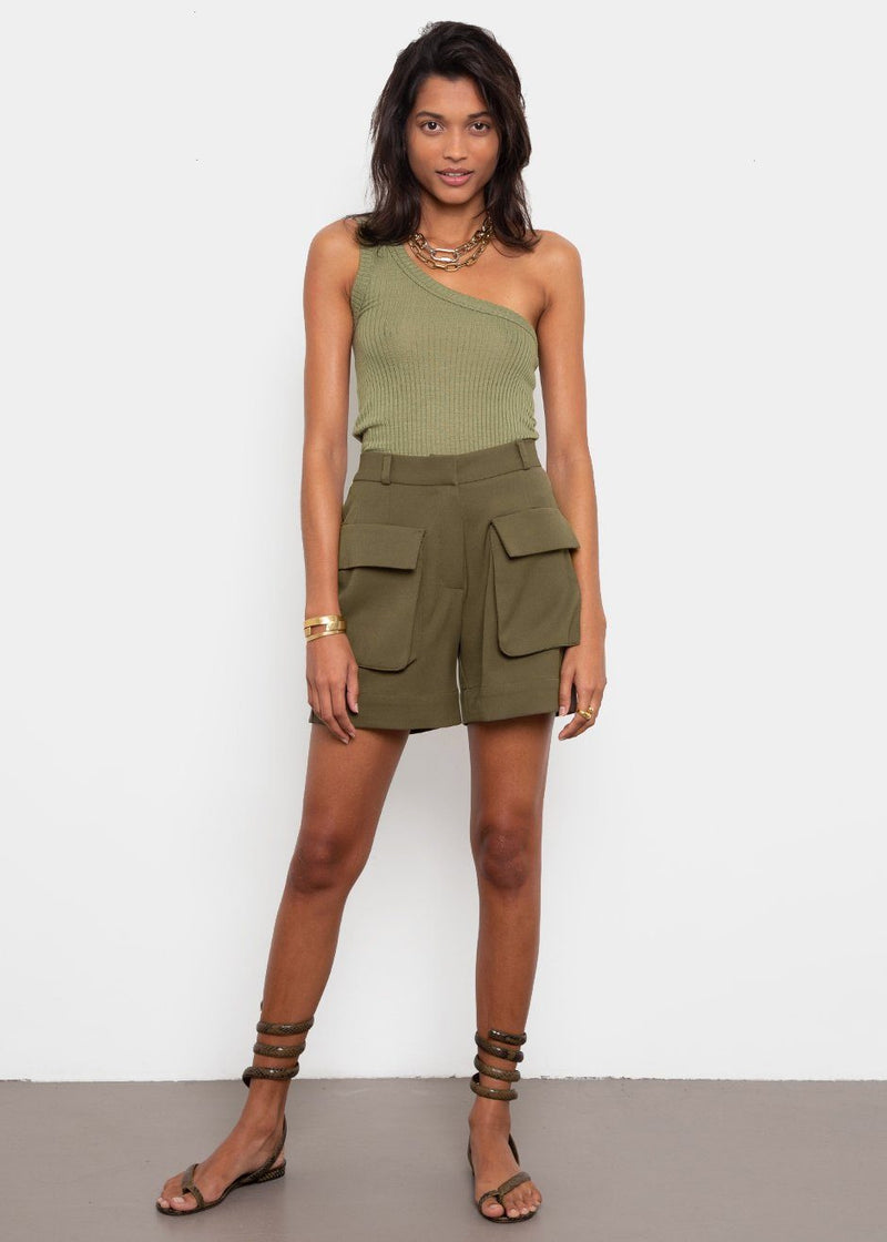 Cargo Shorts- Army Green Shorts Vetiver