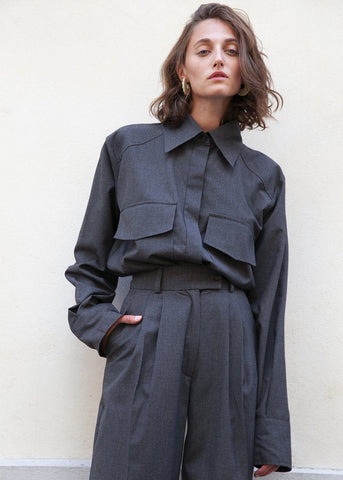 Charcoal Cargo Shirt by Studio Cut shirt Studio Cut