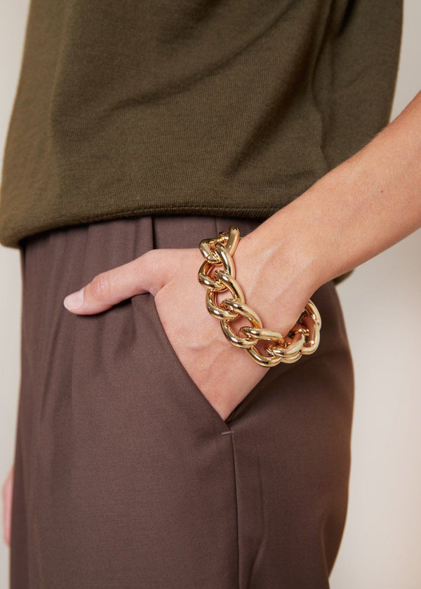Chunky Chain Bracelet in Gold Bracelet Yellow Band