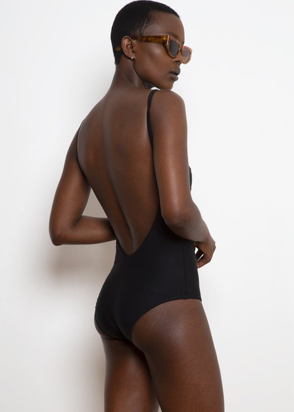 Classic One Piece Swimsuit by Matteau- Black swimsuit Lido