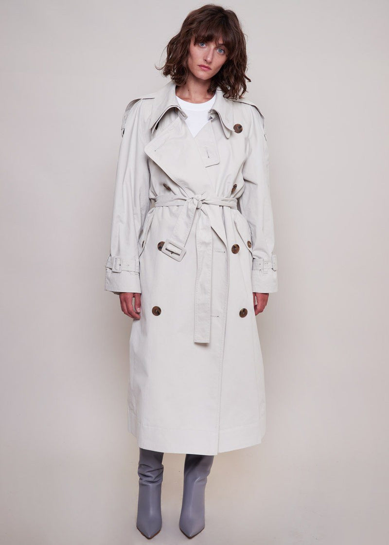 Classic Trench Coat by Low Classic in Light Grey Coat Low Classic