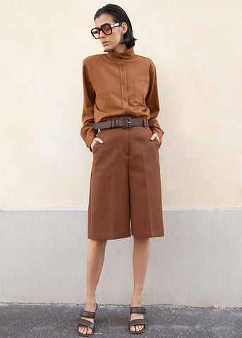 Cognac Trouser Shorts Shorts London Flat