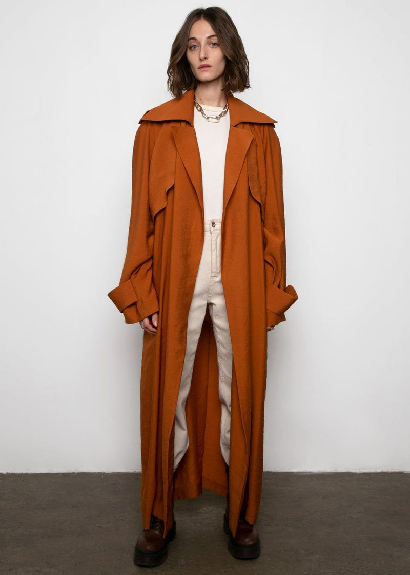 Copper Light Trench Coat by Materiel Tbilisi trench Materiel Tbilisi