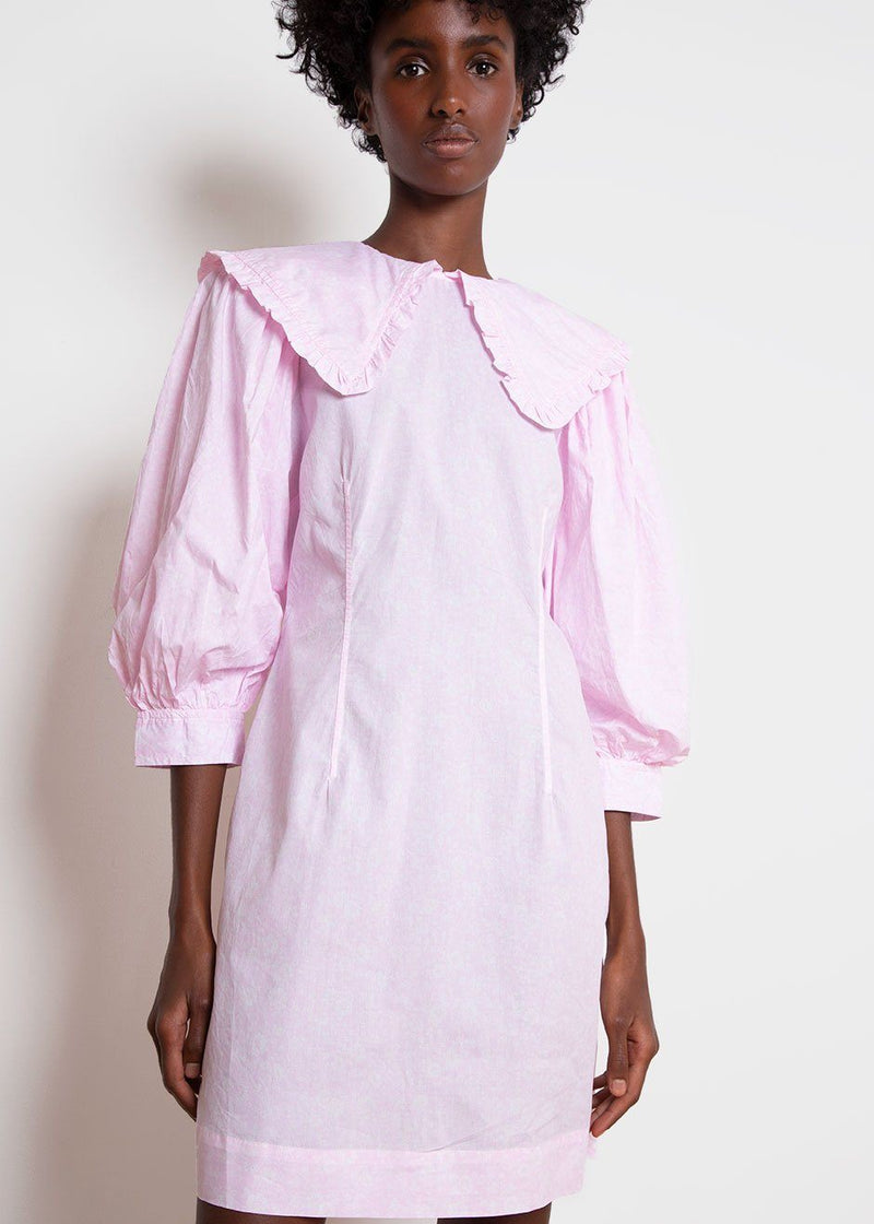 Cotton Poplin Mini Dress by GANNI in Cherry Blossom Dress Ganni