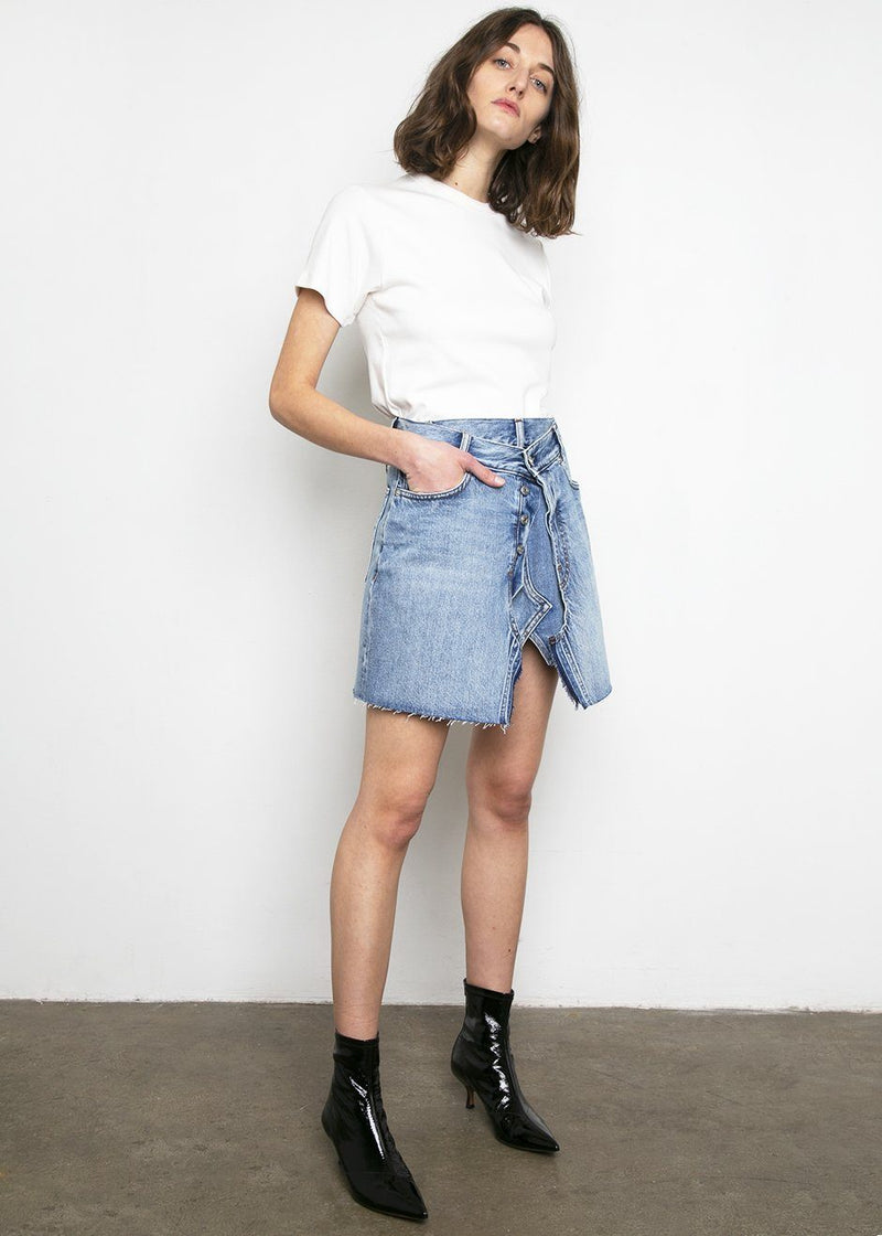 Covert Denim Mini Skirt- Blue Skirt Covert
