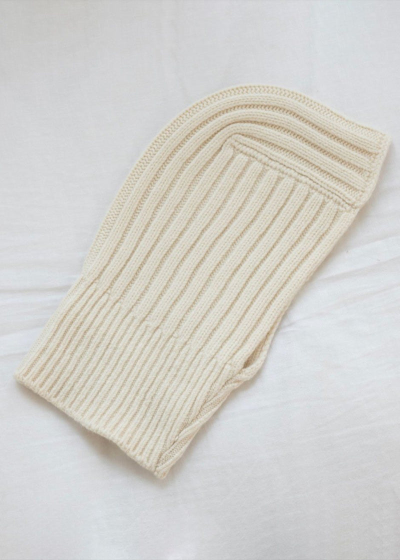 Cream Knit Balaclava Hat L'art