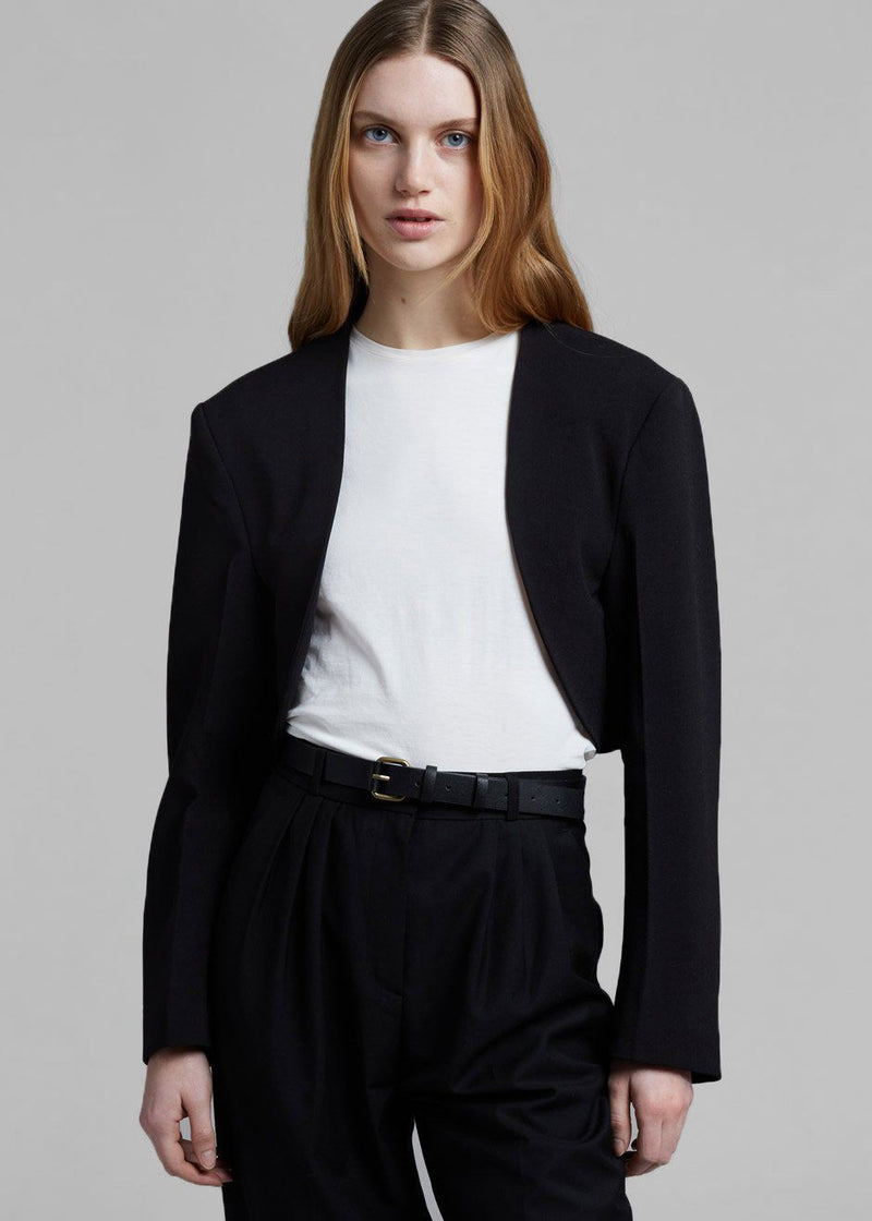 Cropped Bolero Blazer in Black Jacket Understanding
