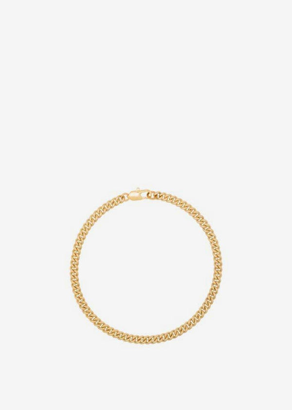 Curb Chain Anklet by Laura Lombardi in Gold Jewelry Laura Lombardi