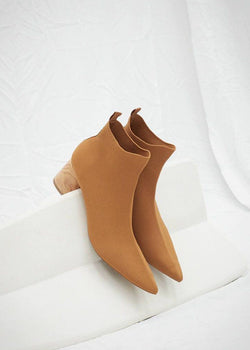 Daya Slip On Ankle Boots in Burnt Orange By Nanushka Shoes Nanushka