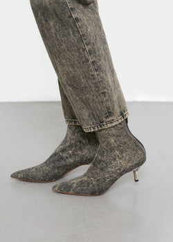 Denim Ankle Boots by Covert in Bleached Shoes Covert