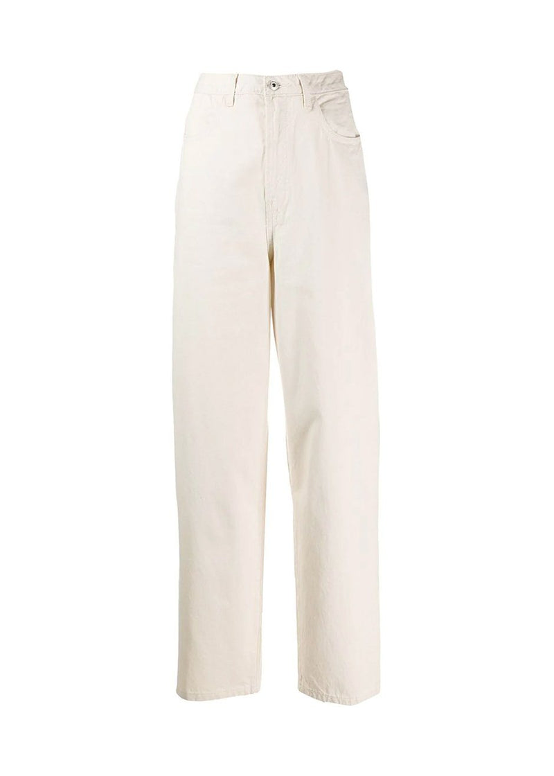 Dewi Denim Pants by Les Coyotes de Paris in Off White Jeans Les Coyotes de Paris