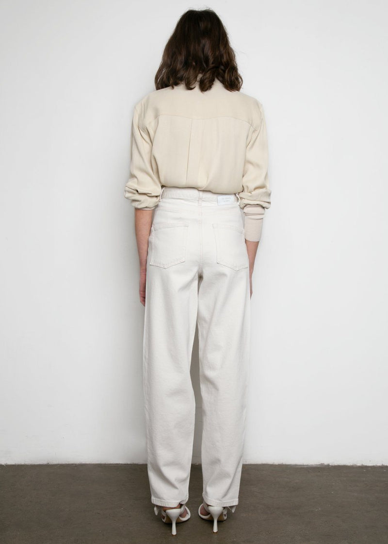 Dewi Denim Pants by Les Coyotes de Paris- Off-White Pants Les Coyotes de Paris
