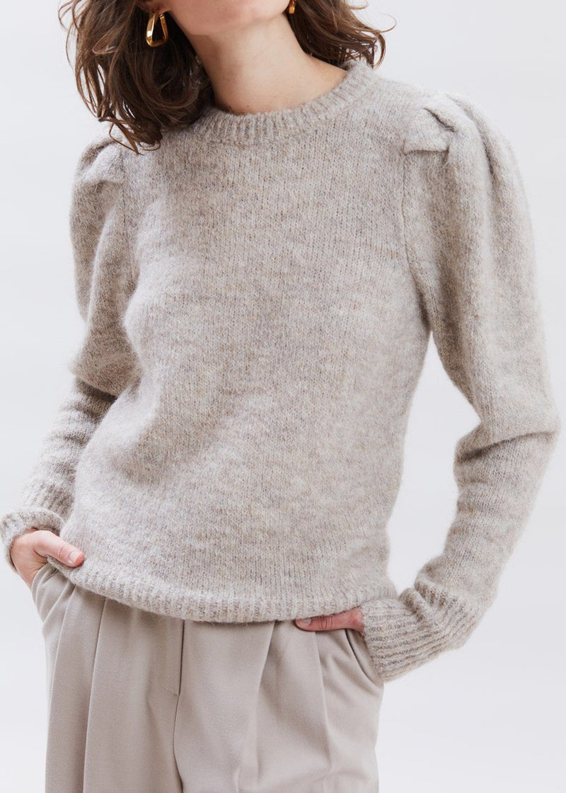 Doa Pullover Sweater by Gestuz in Tannin Melange Sweater Gestuz