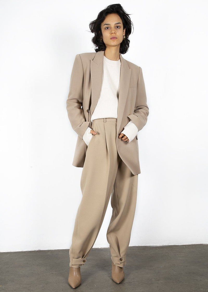 Double Breasted Suit Blazer in Classic Beige Blazer Blossom