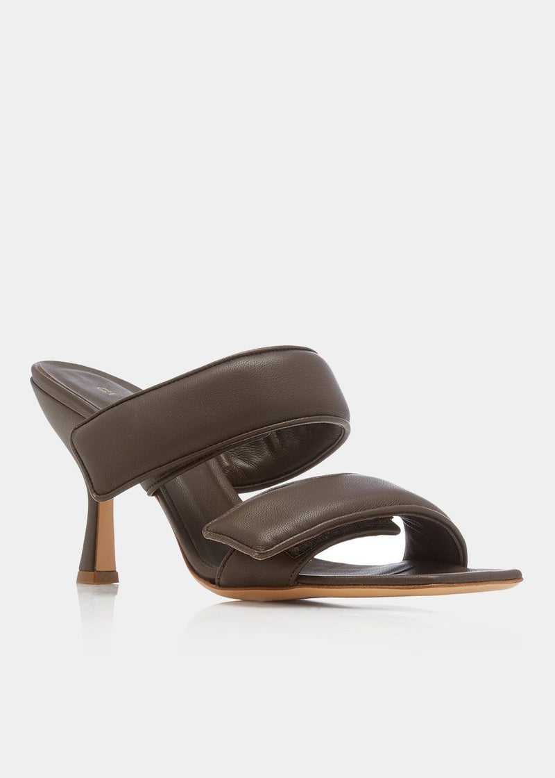 Double Strap Sandals by GIA X Pernille Teisbaek- Dark Brown shoes gia X Pernille Teisbaek