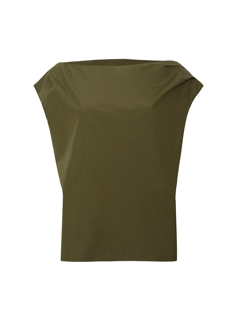 Draped Off The Shoulder Top in Olive Top Beside You