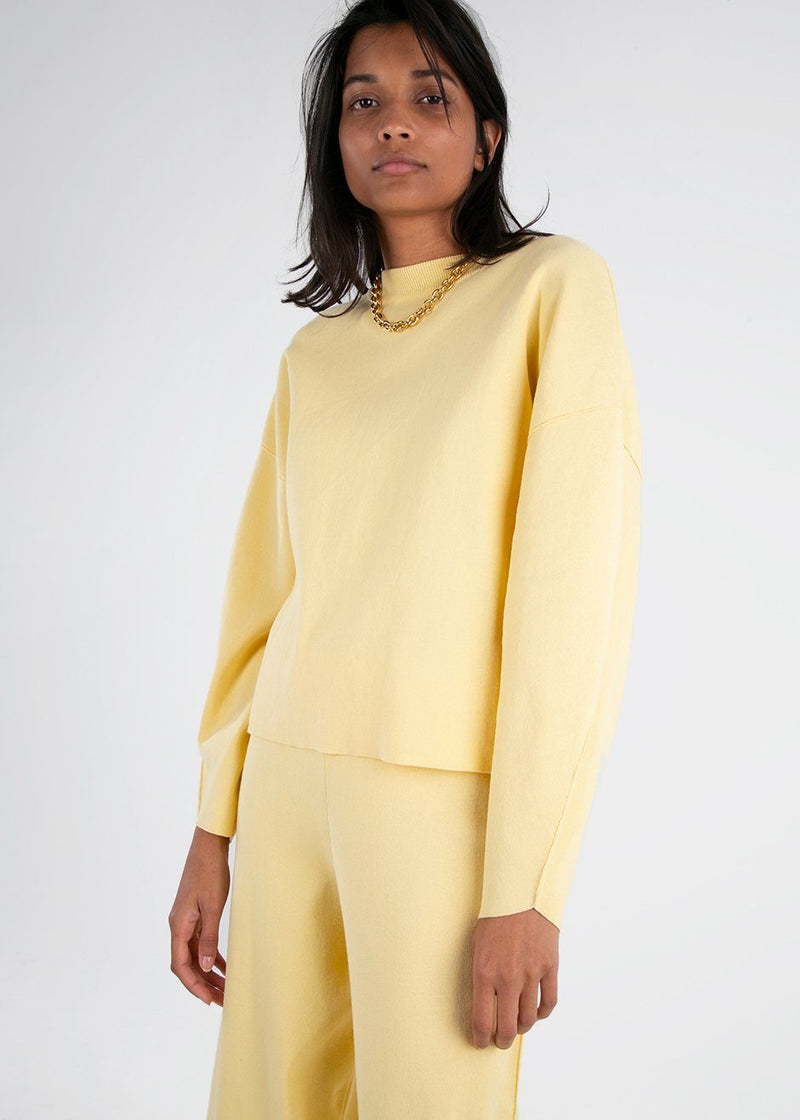 Eclipse Cotton Sweater by Rus in Butter Sweater Rus the Brand