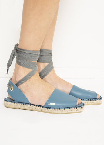 Eliasson Leather Espadrilles in Blue by Act Series Shoes Act Series