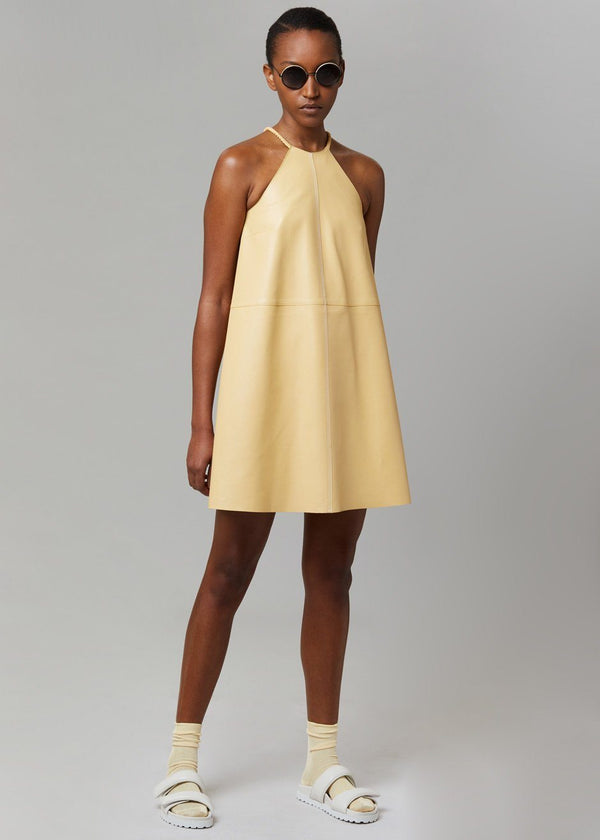 Garland Leather Dress by Aeron in Egg Dress Aeron