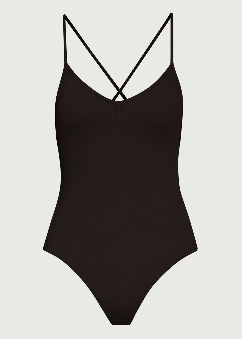 Georgia Coal Black One Piece Swimsuit by Her Line Australia
