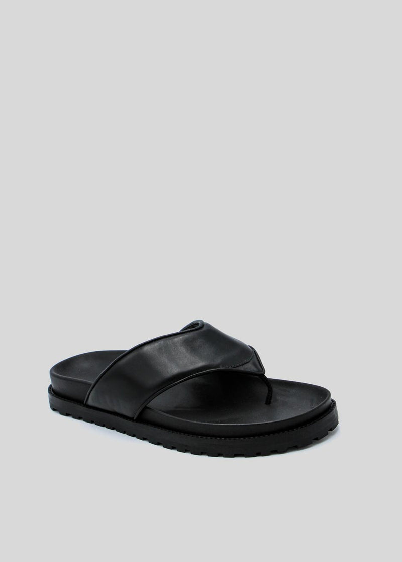 GIA x Pernille Padded Thong Sandals in Black Shoes gia X Pernille Teisbaek