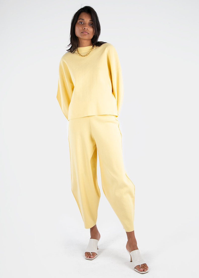 Givre Cotton Pants by Rus in Butter Pants Rus the Brand
