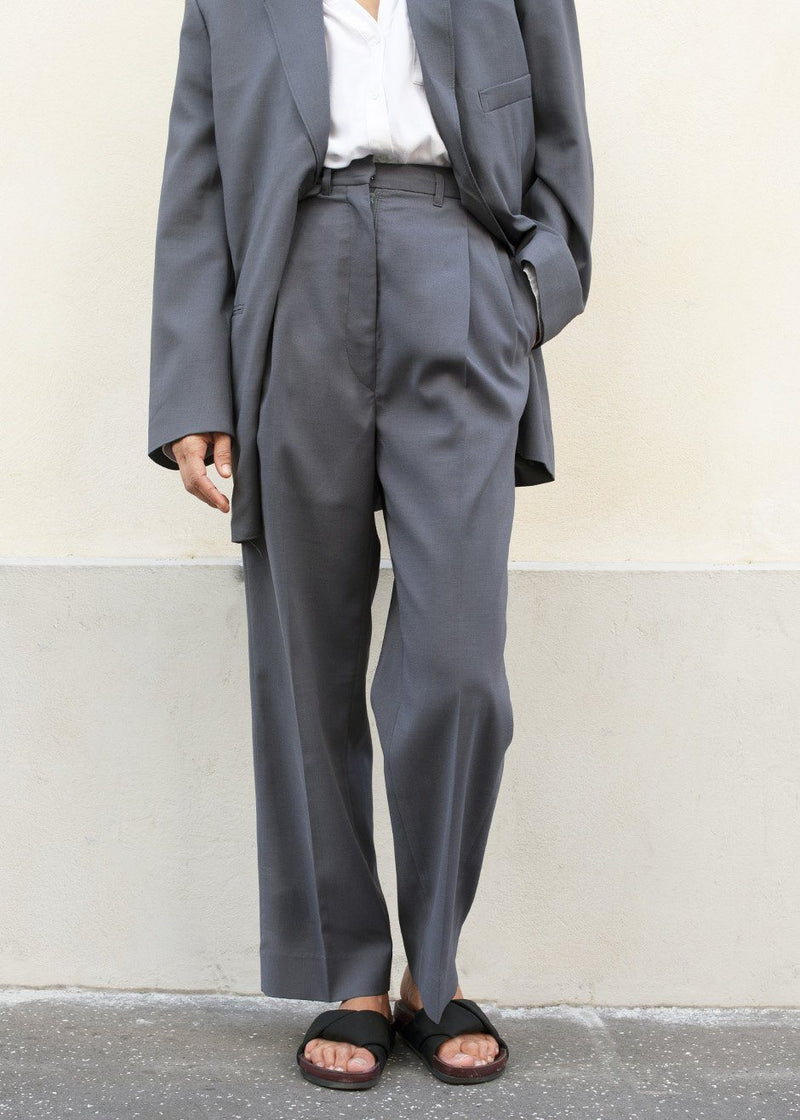 Graphite Pleated Suit Trousers Pants More than Yesterday