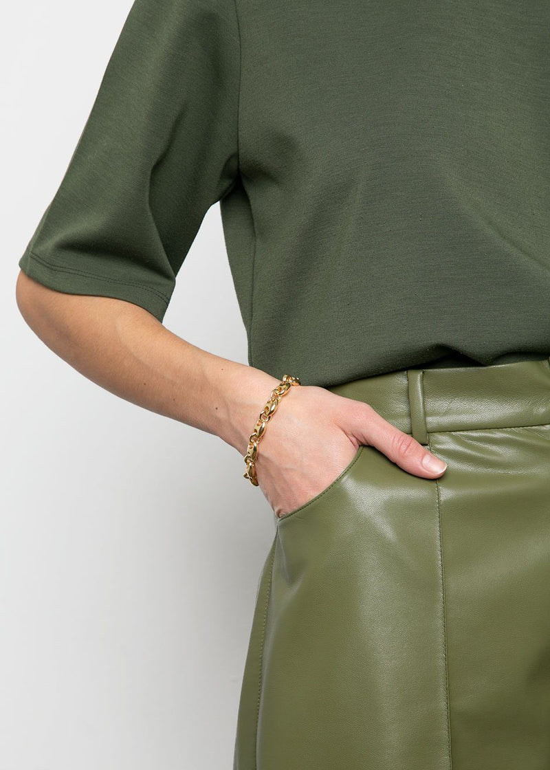 Helen Moss Faux Leather Trouser Shorts by Áeron pants Áeron