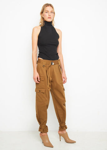 High Rise Cargo Pants in Coffee Pants Beside You