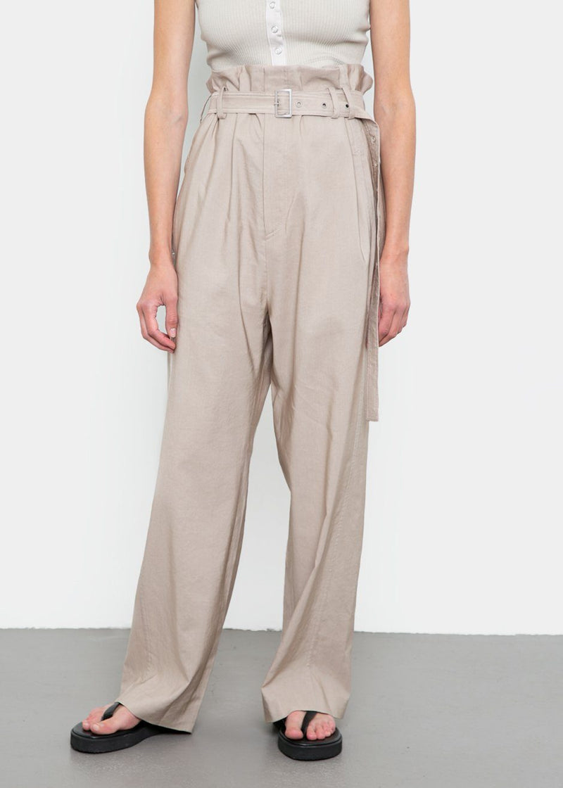 High Waist Pants by Low Classic- Light Beige Pants Low Classic