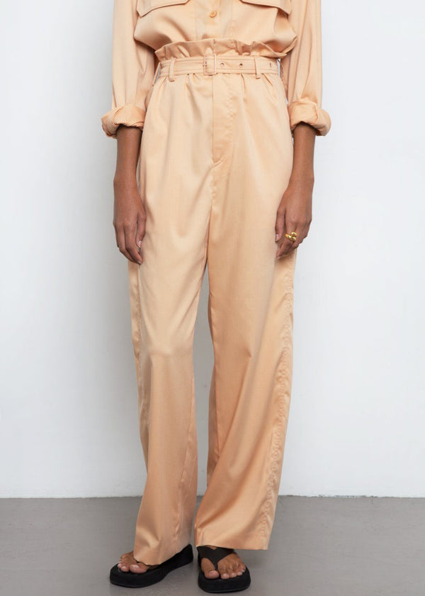 High Waist Pants by Low Classic- Peach Pants Low Classic