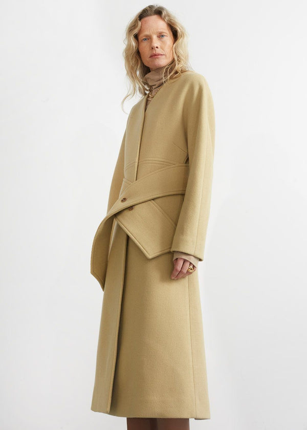 Hourglass Coat Dress in Marzipan Coat MOS EDITION