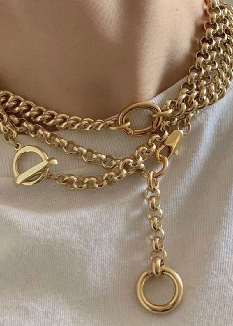 Isa Chain Necklace by Laura Lombardi in Gold Necklace Laura Lombardi