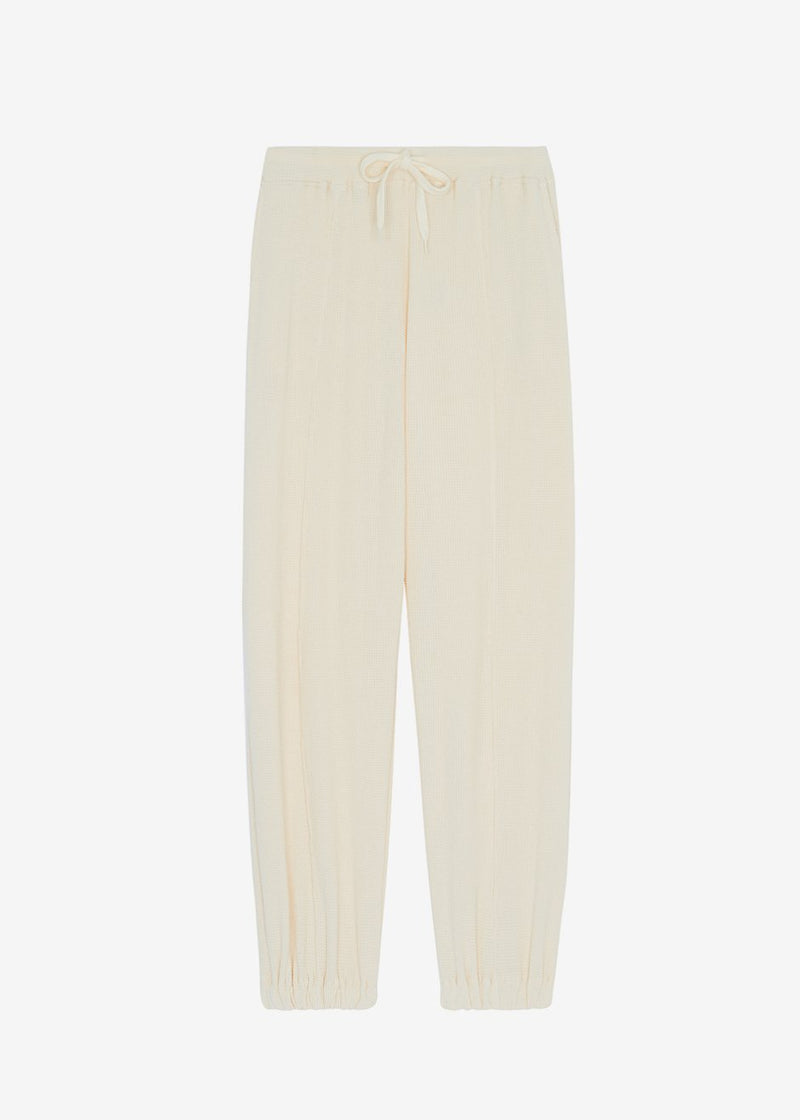 Ivo Waffle Knit Joggers - Buttercream pants The Frankie Shop