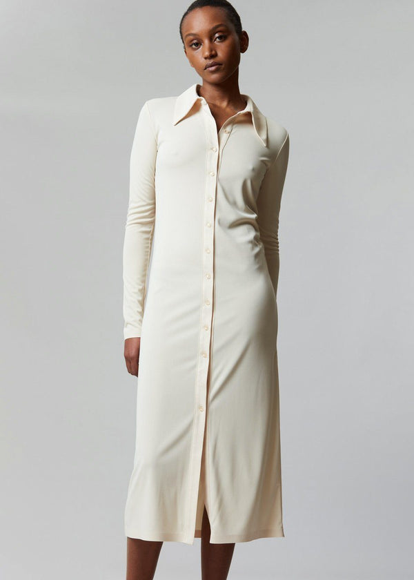 Jersey Long Shirt Dress by Low Classic in Butter Dress Low Classic