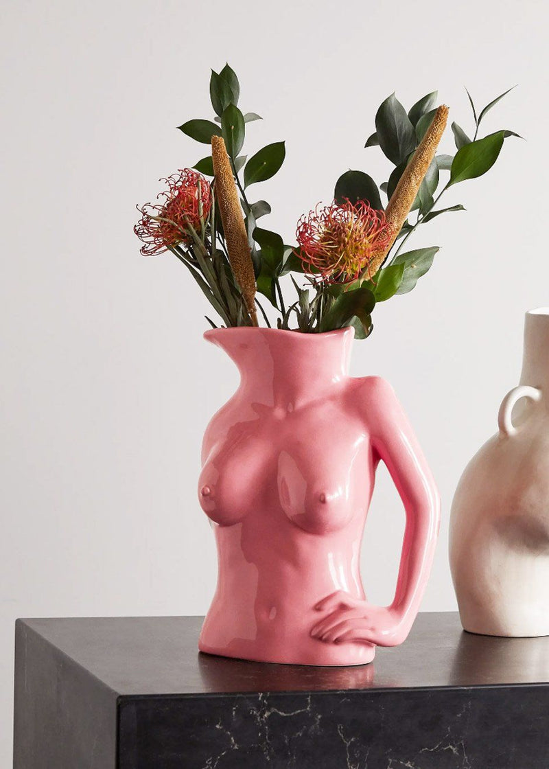 Jugs Jug Ceramic Vase by Anissa Kermiche in Hot Pink Vase Anissa Kermiche