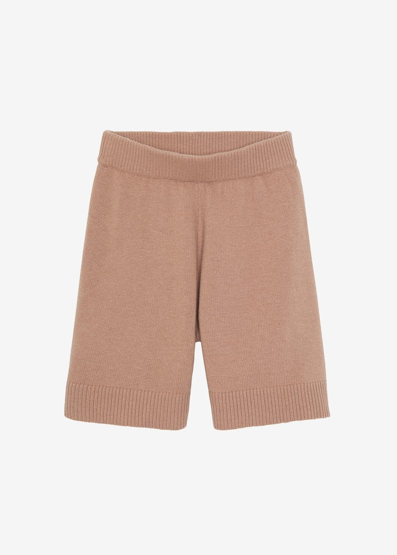 Juno Knit Lounge Shorts - Terra Cotta Shorts The Frankie Shop