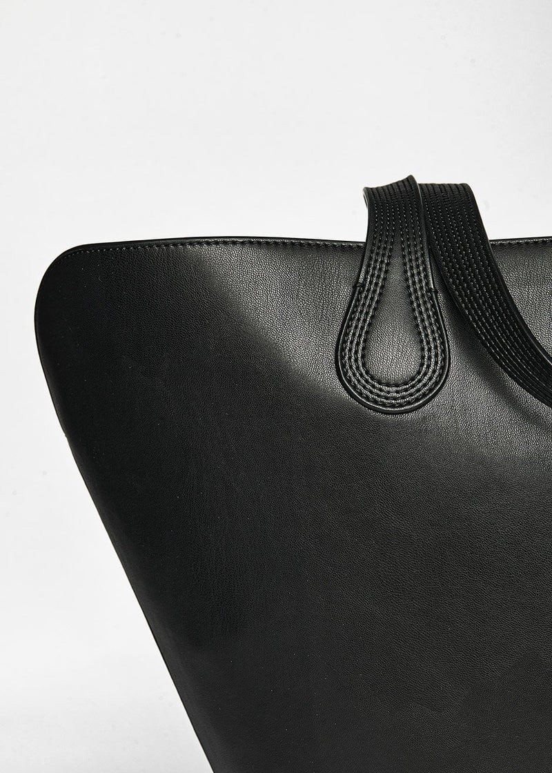 Juno Vegan Leather Tote Bag by Nanushka in Black Bag Nanushka